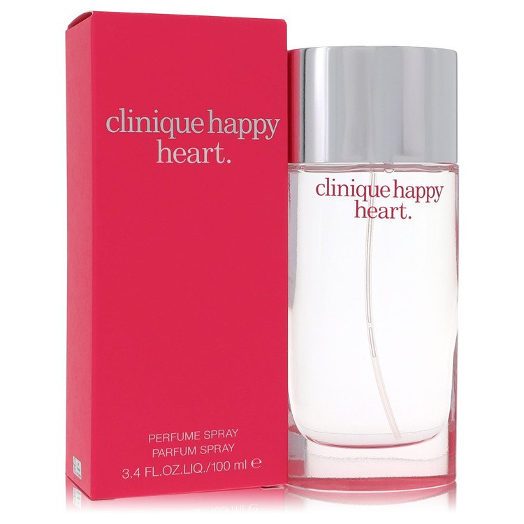 Happy Heart for Women, Gift Set (1.7 oz Perfume Spray + .2 oz Roll on + 2.5 Body Cream + Cosmetic Bag)