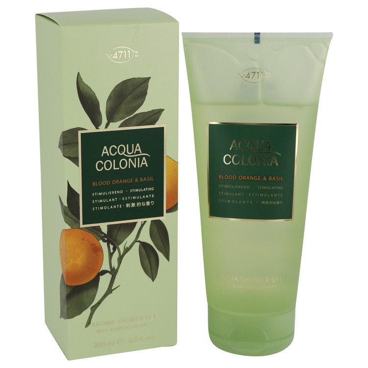 4711 Acqua Colonia Blood Orange & Basil by Maurer & Wirtz for Women Shower Gel 6.8 oz