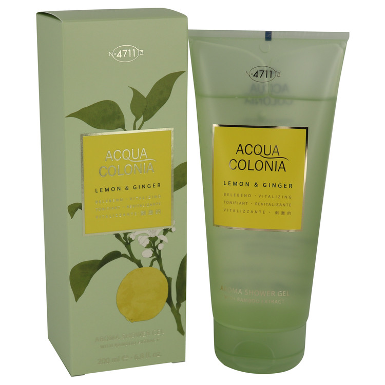 4711 ACQUA COLONIA Lemon & Ginger by Maurer & Wirtz for Women Shower Gel 6.8 oz