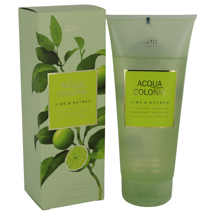4711 Acqua Colonia Lime & Nutmeg by Maurer & Wirtz for Women Shower Gel 6.8 oz