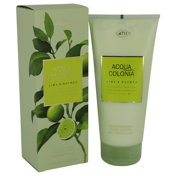 4711 Acqua Colonia Lime & Nutmeg by Maurer & Wirtz for Women Body Lotion 6.8 oz