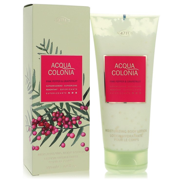 4711 Acqua Colonia Pink Pepper & Grapefruit by Maurer & Wirtz for Women Body Lotion 6.8 oz