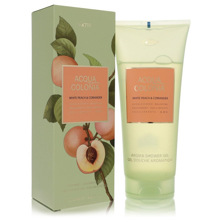 4711 Acqua Colonia White Peach & Coriander by Maurer & Wirtz for Women Shower Gel 6.8 oz