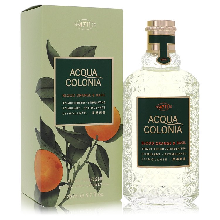 4711 Acqua Colonia Blood Orange & Basil by Maurer & Wirtz for Women Eau De Cologne Spray (Unisex) 5.7 oz