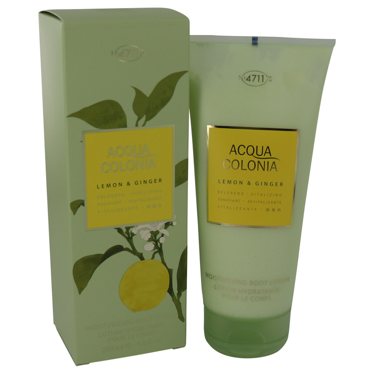 4711 ACQUA COLONIA Lemon & Ginger by Maurer & Wirtz for Women Body Lotion 6.8 oz