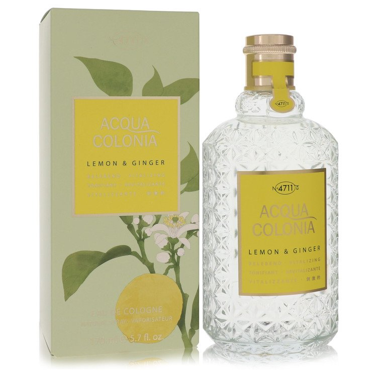 4711 ACQUA COLONIA Lemon & Ginger by Maurer & Wirtz for Women Eau De Cologne Spray (Unisex) 5.7 oz