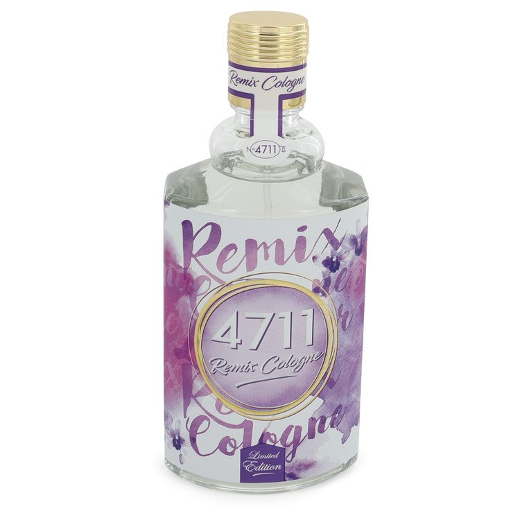 4711 Remix Lavender by 4711 Men's Eau De Cologne Spray (Unisex unboxed) 3.4 oz