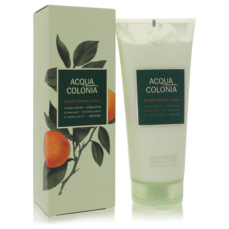 4711 Acqua Colonia Blood Orange & Basil by Maurer & Wirtz for Women Body Lotion 6.8 oz
