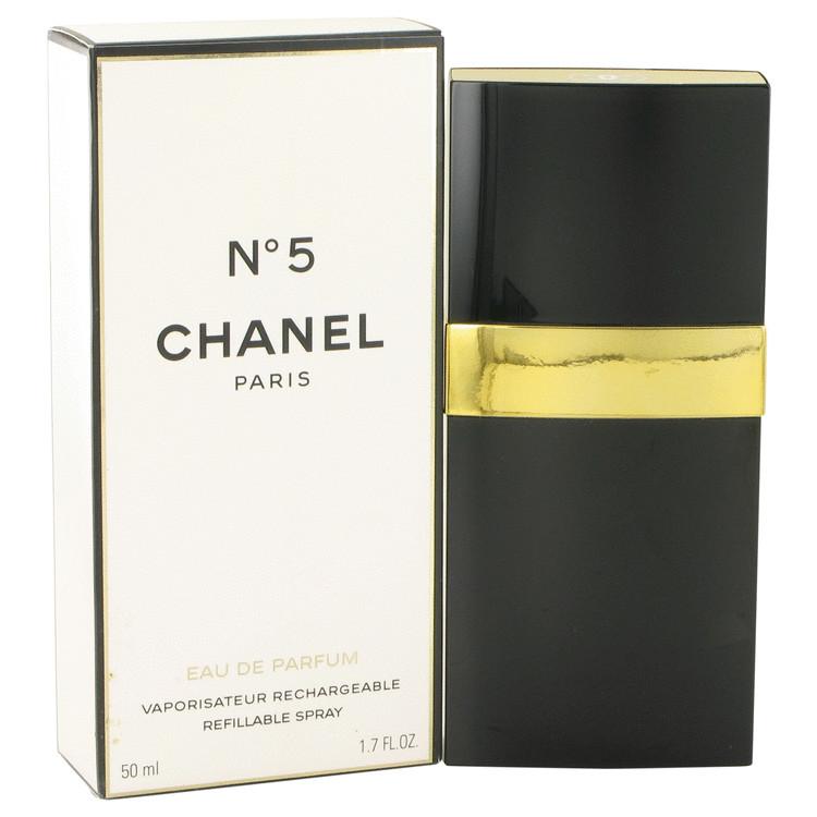 Chanel No. 5 Perfume 50 ml Eau De Parfum Refillable Spray for Women