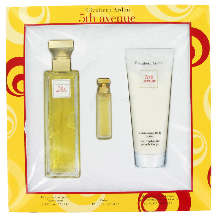 5th Avenue Gift Set -- Gift Set - 2.5 oz Eau De Parfum Spray + .12 oz Mini EDP + 3.3 oz Body Lotion for Women