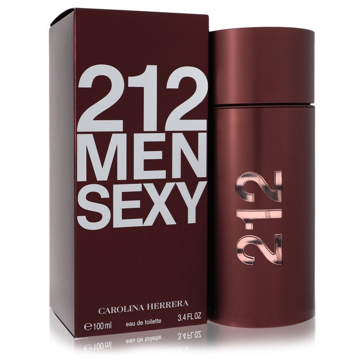 212 Sexy Gift Set -- Gift Set - 3.4 oz Eau De Toilette Spray + 3.4 oz Body Moisturizer + Toiletry Bag for Men