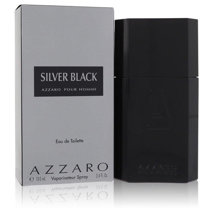 Silver Black Gift Set -- Gift Set - 3.4 oz Eau De Toilette Spray + 2.5 oz After Shave Balm + Toiletry Bag for Men