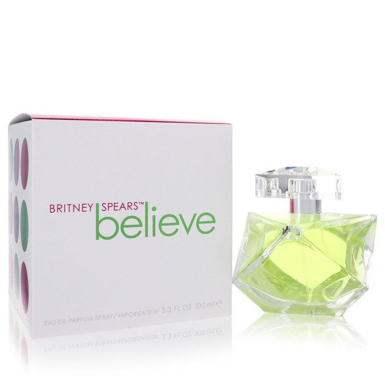 Believe Gift Set -- Gift Set - 3.4 oz Eau De Parfum Spray + 3.3 oz Body Souffle + .5 oz Shimmer Powder Puff + Jar for Women