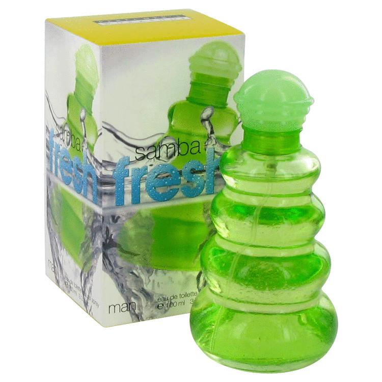 Samba Fresh Gift Set -- Gift Set - 3.4 oz Eau De Toilette Spray + 4.4 oz Body Lotion for Men