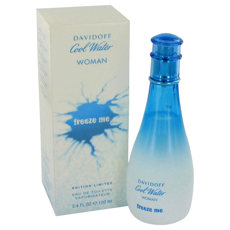 Cool Water Freeze Me Perfume by Davidoff 3.4 oz EDT Spay for Women