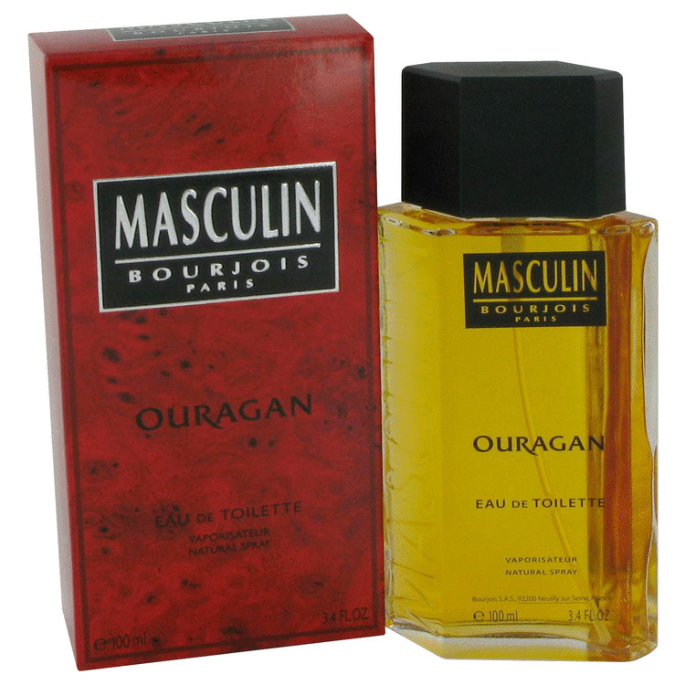 Masculin Ouragan Cologne by Bourjois 100 ml EDT Spay for Men