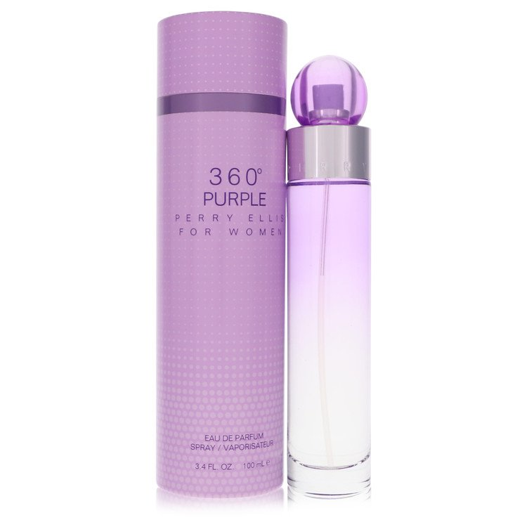 Perry Ellis 360 Purple by Perry Ellis Women's Gift Set -- 3.4 oz Eau De Parfum Spray + .25 oz Mini EDP Spray + 3 oz Shower Gel