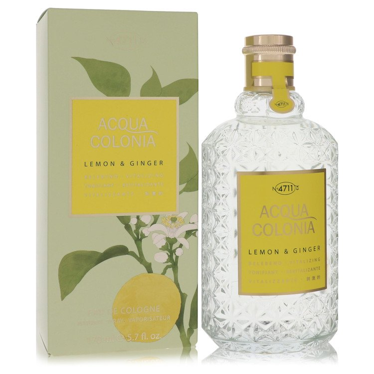4711 ACQUA COLONIA Lemon & Ginger by Maurer & Wirtz for Women Eau De Cologne Spray (Unisex Tseter) 5.7 oz
