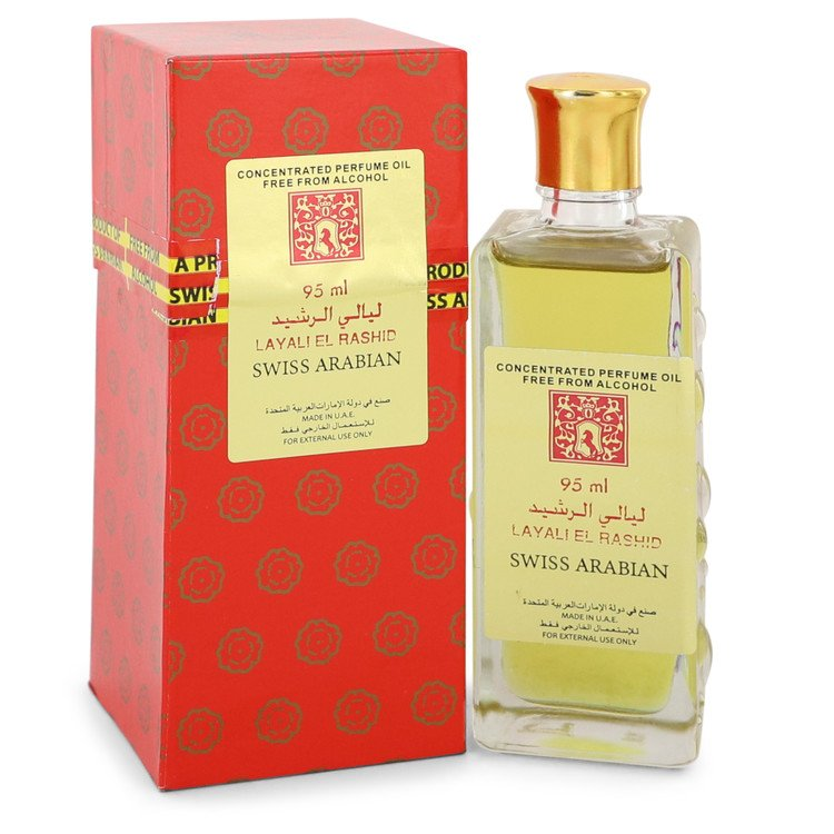 Layali El Rashid by Swiss Arabian Women's Concentrated Perfume Oil Free From Alcohol (Unisex Unboxed) 3.2 oz