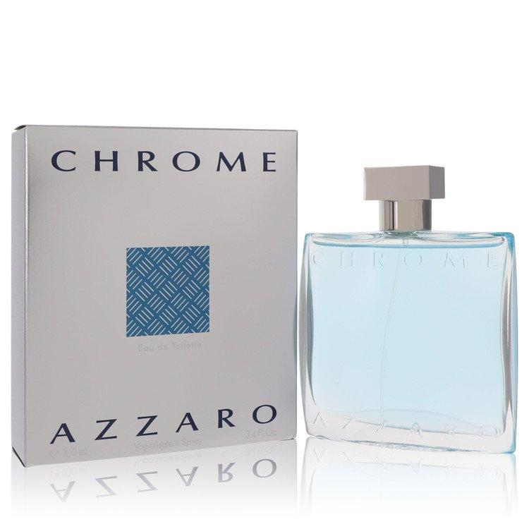 Chrome Gift Set -- Gift Set - 3.4 oz Eau De Toilette Spray + 3.4 oz After Shave for Men