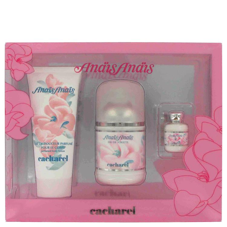 Anais Anais Gift Set -- Gift Set - 3.4 oz Eau De Toilette Spray + .25 oz Mini EDT + 3.4 oz Body Lotion for Women