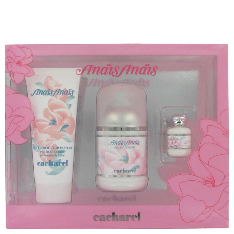 Anais Anais Gift Set -- Gift Set - 3.4 oz Eau De Toilette Spray + 3.4 oz Body Lotion + .24 oz Mini EDT for Women