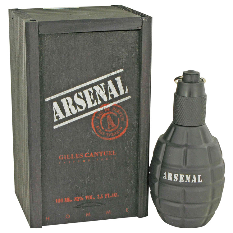 Arsenal Black Cologne by Gilles Cantuel 100 ml EDP Spay for Men