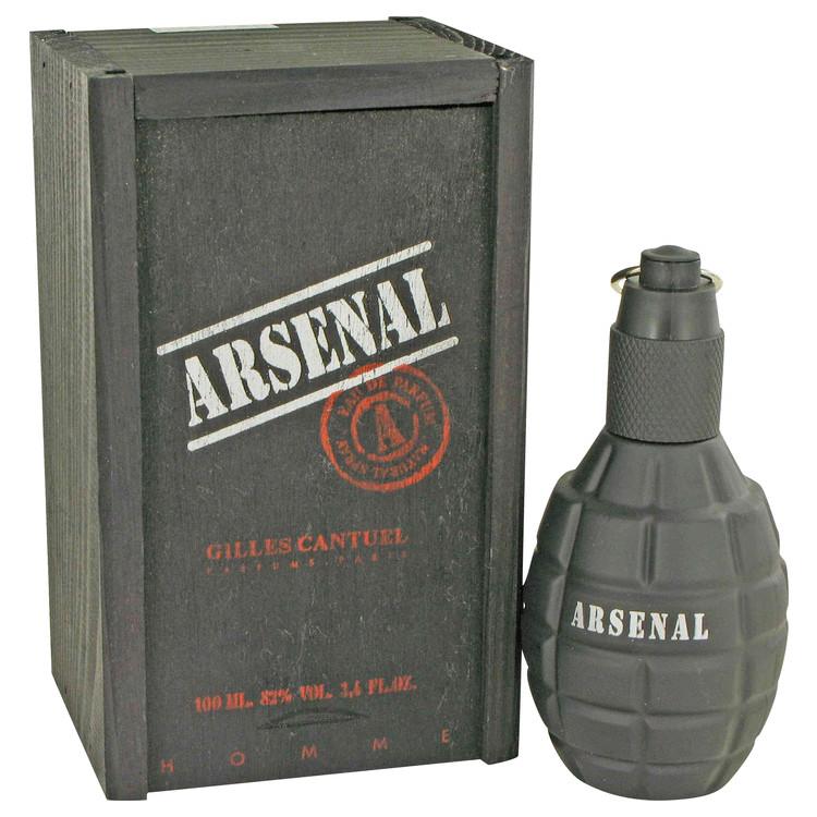 Arsenal Black by Gilles Cantuel for Men Eau De Parfum Spray 3.4 oz