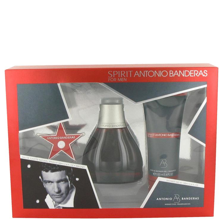 Spirit Gift Set -- Gift Set - 3.4 oz Eau De Toilette Spray + 3.4 oz Shower Gel + Magnet for Men