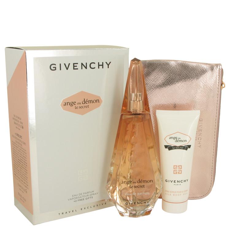 Ange Ou Demon Le Secret by Givenchy for Women Gift Set -- 3.3 oz Eau De Parfum Spray + 2.5 oz Body Viel + Pouch