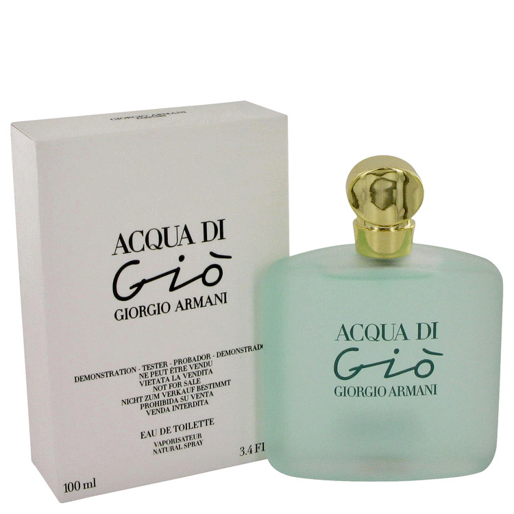 Acqua Di Gio by Giorgio Armani Women's Eau De Toilette Spray (Tester) 3.4 oz