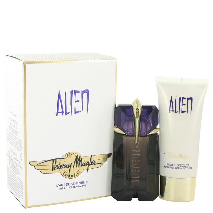 Alien Gift Set -- Gift Set - 2 oz Eau De Parfum Spray + 3.4 oz Body Lotion  (Travel Set) for Women