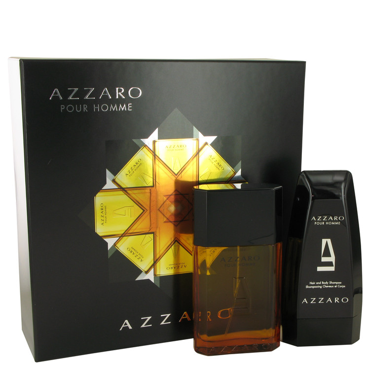 Azzaro Gift Set -- Gift Set - 3.4 oz Eau De Toilette Spray + 5 oz Hair & Body Shampoo for Men