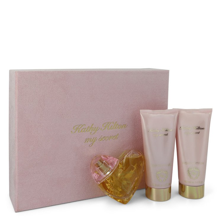 My Secret Gift Set -- Gift Set - 1.7 oz Eau De Parfum Spray + 3.4 oz Shower Gel + 3.4 Body Lotion for Women