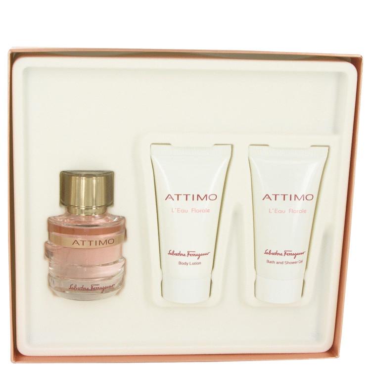 Attimo L'eau Florale Gift Set -- Gift Set - 1.7 oz Eau De Toilette Spray + 1.7 oz Body Lotion + 1.7 oz Shower Gel for Women