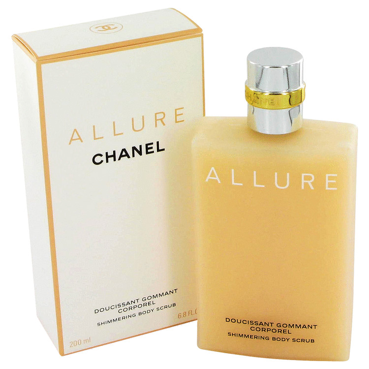 Allure Body Lotion by Chanel 6.8 oz Body Scrub for Women