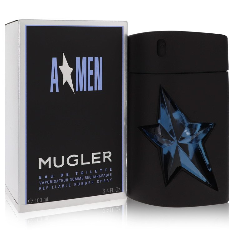 Angel Cologne 100 ml Eau De Toilette Spray Refillable (Rubber) for Men