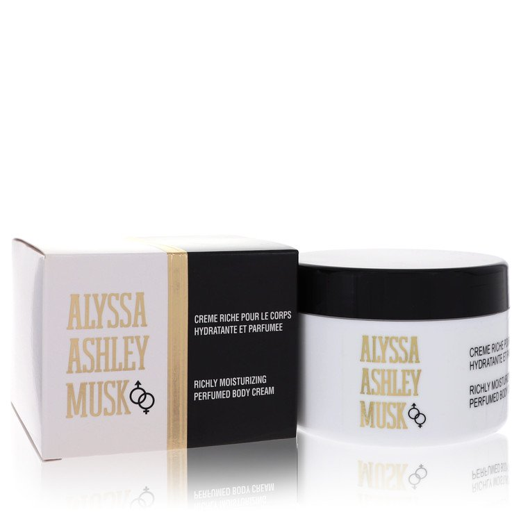 Alyssa Ashley Musk Body Cream by Houbigant 8.5 oz Body Cream for Women