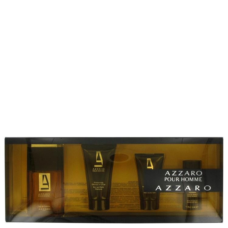 Azzaro Gift Set -- Gift Set - 1.7 oz Eau De Toilette Spray + 1.7 oz Hair & Body Shampoo + 1 oz After Shave Balm + 0.6 oz Deodorant Stick for Men