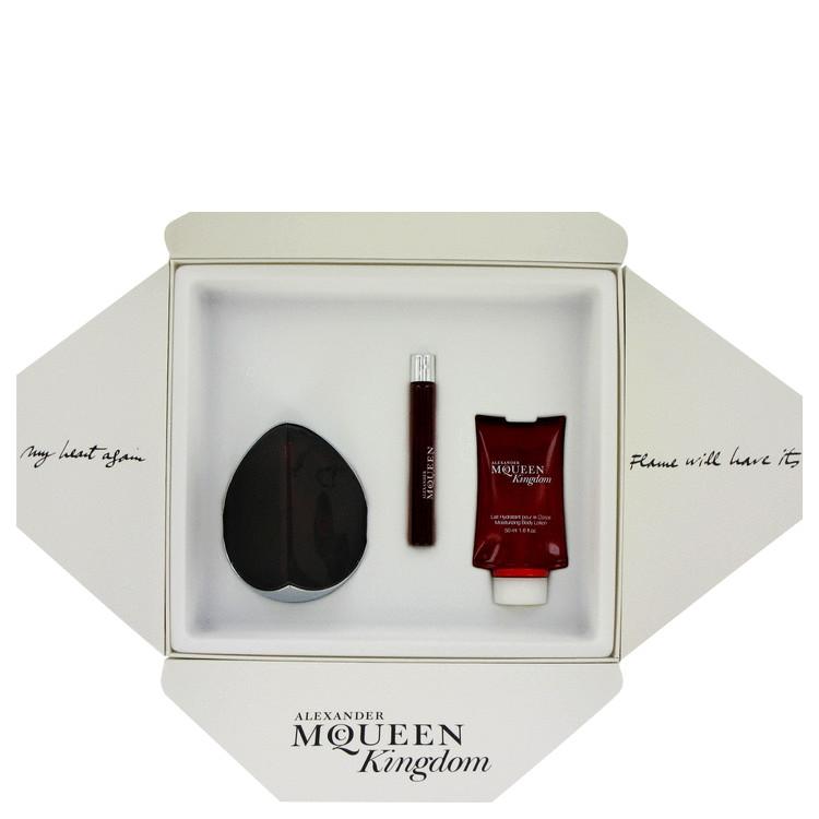 Alexander Mcqueen Kingdom for Women, Gift Set (3.3 oz EDP Spray + .33 oz EDP Roll Pen + 1.6 oz Body Lotion)