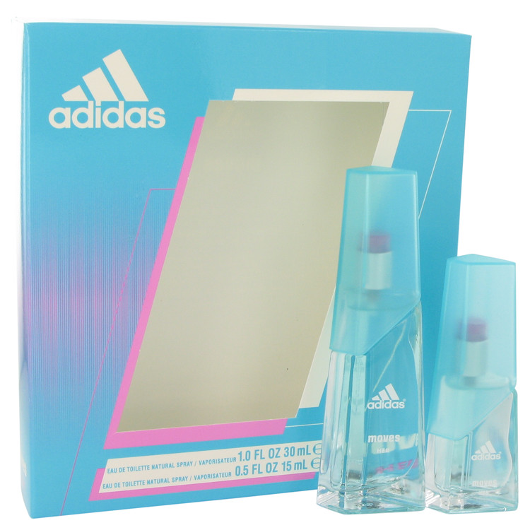 Adidas Moves by Adidas Women's Gift Set -- 1 oz Eau De Toilette Spray + .5 oz Eau De Toilette Spray