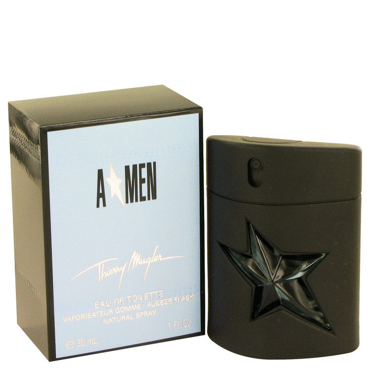 Angel Cologne 1 oz EDT Spray Rubber Flask for Men