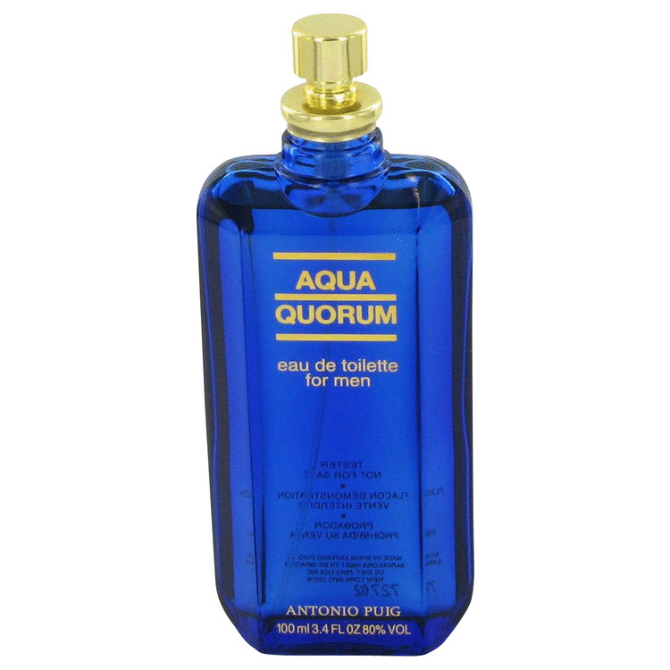 AQUA QUORUM by Antonio Puig for Men Eau De Toilette Spray (Tester) 3.4 oz