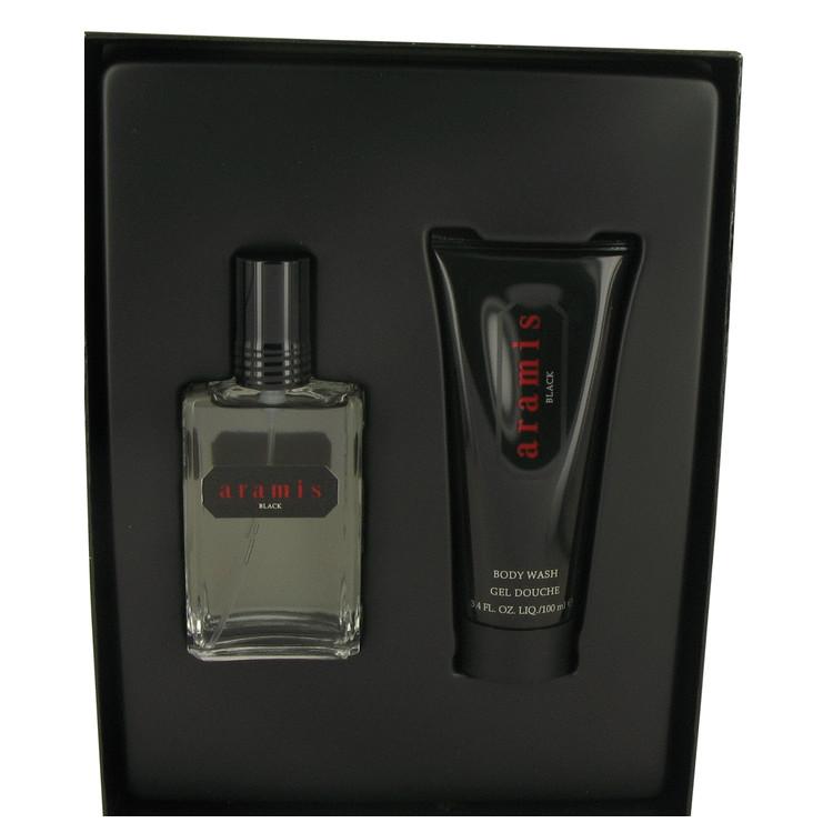 Aramis Black Gift Set -- Gift Set - 2 oz Eau De Toilette Spray + 3.4 oz Body Wash for Men