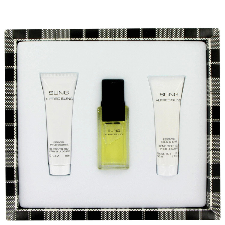 Alfred Sung Gift Set -- Gift Set - 1 oz Eau De Toilette Spray + 1.7 oz Body Cream + 1.7 oz Shower Gel for Women