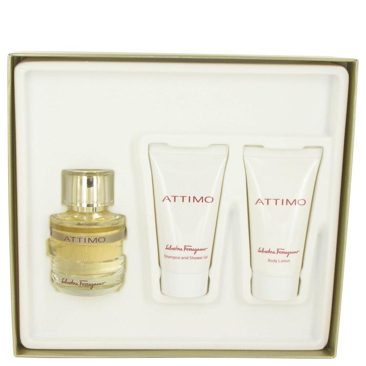 Attimo Gift Set -- Gift Set - 3.4 oz Eau De Parfum Spray + 1.7 oz Body Lotion + 1.7 oz Shower Gel for Women