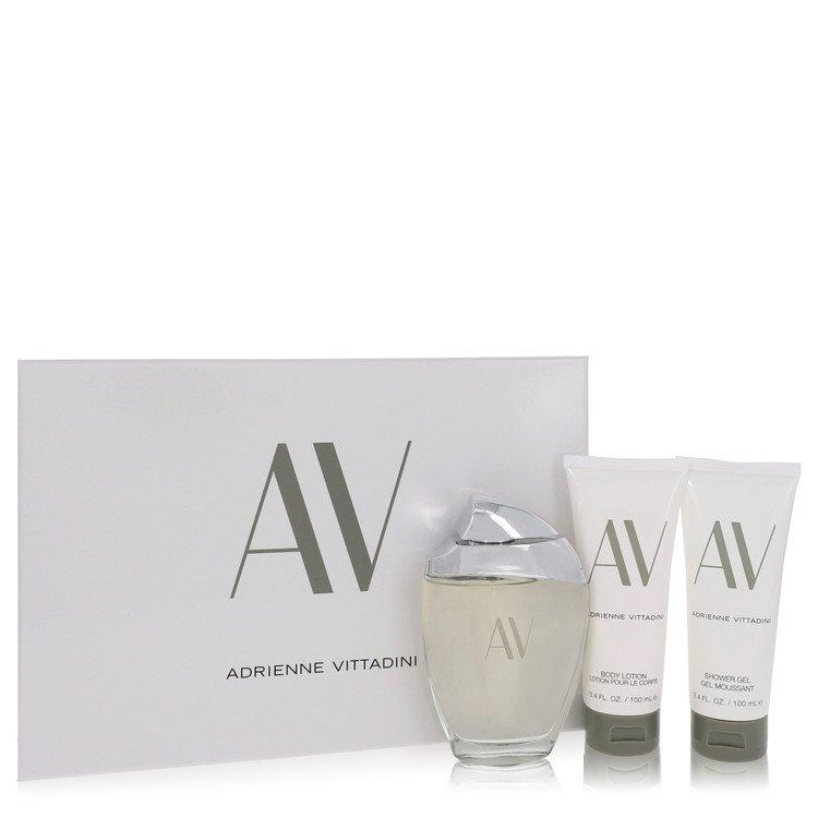 Av Gift Set -- Gift Set - 3 oz Eau De Parfum Spray + 3.3 Body Lotion + 3.3 oz Shower Gel for Women