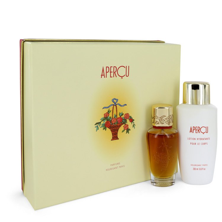 Apercu Gift Set -- Gift Set - 1.7 oz Eau De Toilette Spray + 6.7 oz Body Lotion for Women