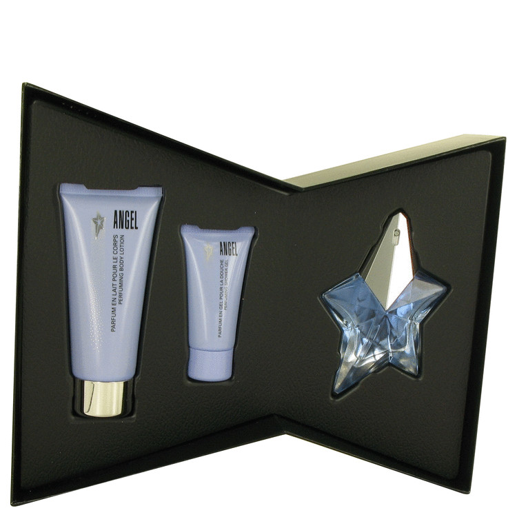 Angel for Women, Gift Set (.8 oz EDP Spray + 3.5 oz Body Lotion + 1 oz Shower Gel)