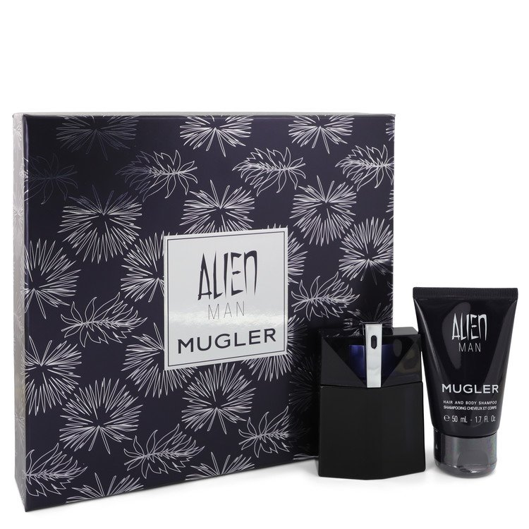 Alien Man by Thierry Mugler Men's Gift Set -- Eau De Toilette Spray Refillable Hair & Body Shampoo